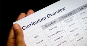 curriculum overview for high school teachers