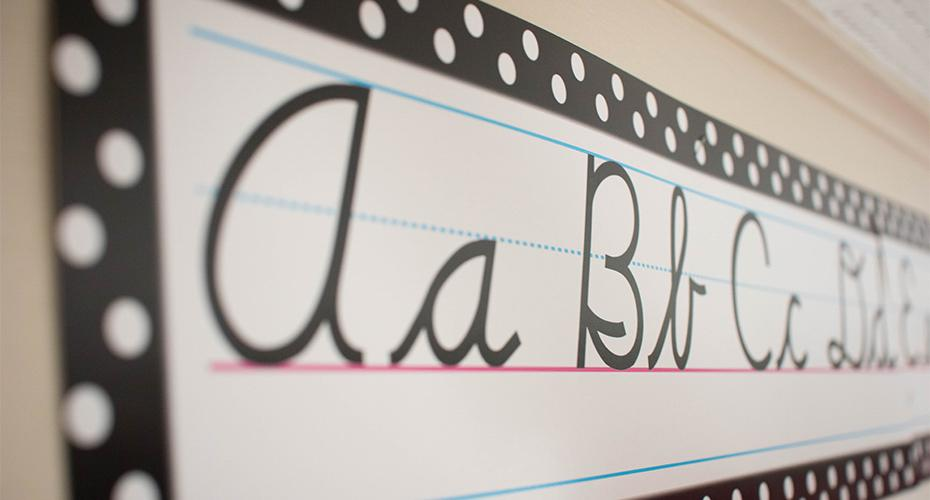 english alphabet letters in class